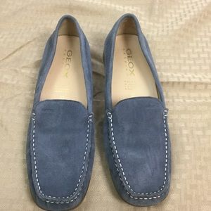 Geox Respira Lt Blue Suede loafers Sz 7